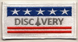 NASA Space Shuttle Discovery (OV-103) Embroidered Flag Patch
